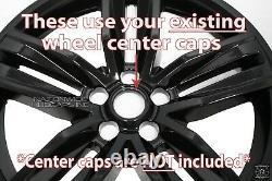 4 fits 2016-2018 Chevrolet Camaro 20 Black Wheel Skins Hub Caps Full Rim Covers