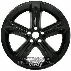 4 fits Dodge Challenger 2014-2017 Black 20 Wheel Skins Hub Caps Full Rim Covers