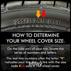 4 x Hub Caps fit TOYOTA 2012-2018 Prius V 16 Wheel Covers Rim Cap Tire Hubs