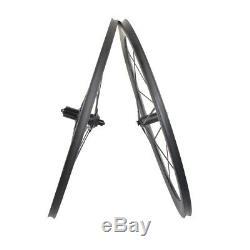 50/55mm Full Carbon Spokes Wheel Tubular Road Bike 700C Basalt Rim 3k matt DT350