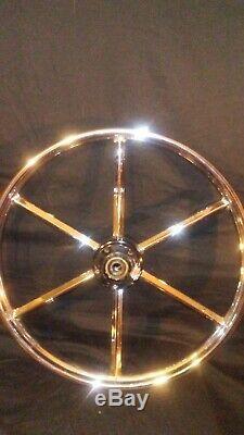 6 spoke invader rim set chrome rear 16 inch disk brake front 21 inch dual disk