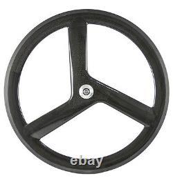 700C 56mm 3 Spoke Wheels Track Bike Wheelset Tri Spoke Wheelset Fixed Gear Wheel