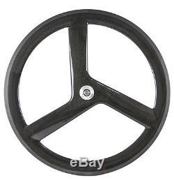 700C 56mm Tri Spoke Front Wheel Fixed Gear Wheelset 88mm Rear Carbon Wheelset