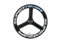 700C 65mm Tri Spokes Carbon Wheelset Cycling Road Bike Carbon Wheels Front&Rear