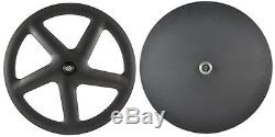 700C Five Spoke Carbon Wheel Disc Wheels For Road Bike Time Trial Carbon Wheel