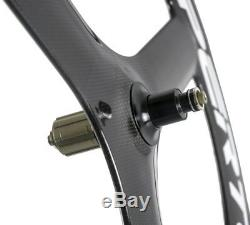 700C Tri Spoke Road Bike Wheelset Front+Rear Clincher Race Road Bicycle Wheels