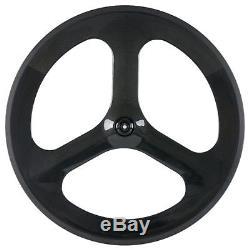 700C Tri Spoke Wheel Road/Track Bike Wheelset Customized 3 Spokes Wheels