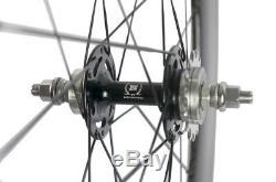 700C Urban Carbon Wheels Front 70mm Tri Spokes Rear 88mm Fixed Gear Carbon Wheel