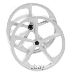 700c 5 Spoke Fixed Gear Single Speed Bike Fixie Spoke Mag Wheel Rim (Front+Rear)