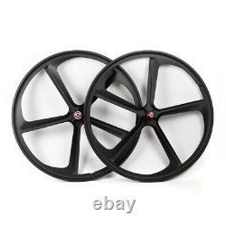 700c Fixed Gear Mag Wheels Rims Set (Front&Rear) Fixie Bike Single Speed US New