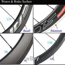 70mm Tri Spoke Front Wheel 88mm Rear Carbon Wheelset Fixed Gear Wheels 700C Set