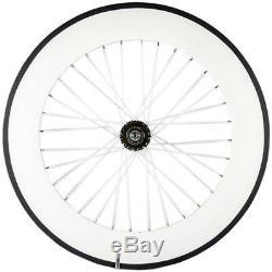70mm Tri Spoke Front Wheel 88mm Rear Track Wheelset Fixed Gear Wheels 700C Track