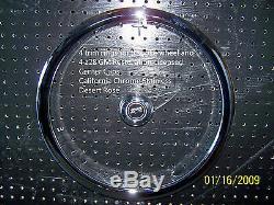71 72 Chevelle SS Trim Rings & Center Caps Chevy Bowtie 73 74 5 spoke wheel