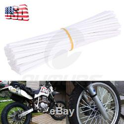 72PCS Motorcycle Dirt Bike Spoke Skins Covers Wrap Wheel Rim Guard Protector USA