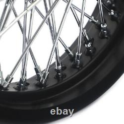 72 Spokes 16 Front Rear Wheel Complete Set for Dyna Softail Sportster Touring