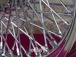 80 SPOKE CHROME 16x 3 WHEEL HARLEY SHOVELHEAD FL FRONT & REAR & FX 73-84 REAR