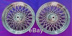 80 Spoke 16 Front/rear Wheel Set Harley Shovelhead Fl Flh Electra Glide 73-83