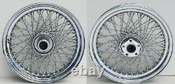 80 Twisted Spoke 16 Front/rear Wheel Set Harley Softail Heritage Fat Boy 86-99