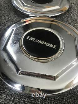 80s Tru Spoke Truspoke Ray Wire Cadillac Chrome Wheel Center Hub Cap 6 7/8 #L