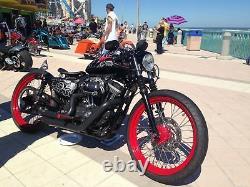 84-99 Harley CAFE RACER Sportster Black 23 x 3 40 SPOKE FRONT REAR WHEEL SET
