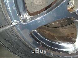 97-04 Corvette C5 5 Spoke Polished Front Rear Wheels 17/18 Rims Aa6424