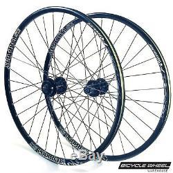 Alex XCR100d 26 Wheel set Formula 6-Bolt Disc QR Hubs Black Spokes 8,9,10 spd