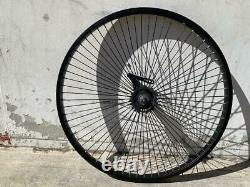 Alloy 26 x 1.75 Bicycle Wheelset Front/Rear 68 Spokes Coaster Brake BLACK