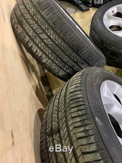 BMW E70 X5 X6 Y SPOKE STYLE 335 19 RIMS WHEELS STAGGERED With TIRES SET OEM 78K