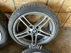 BMW E82 E88 18 STYLE 313 DOUBLE SPOKE WHEELS RIMS STAGGERED With TIRES OEM 95K