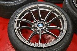 BMW M3 & M4 STYLE 513M OEM 10 DOUBLE SPOKE 18 WHEEL TIRE RIM SET Staggered
