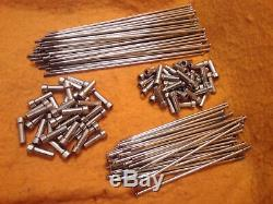 BMW R100GS & R80GS front & rear wheel stainless steel spoke and nipple sets