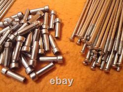 BMW R1200GS front & rear wheel stainless steel spoke and nipple sets