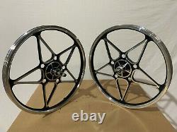 BMX 20 x 35mm Front & Rear Freewheel Bicycle Alloy Wheel w 10 spokes Chrome H13