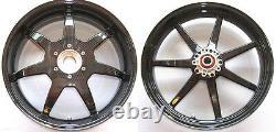 BST 7-Spoke Carbon Fiber Front Rear Rims Wheels Triumph Speed Triple 1050