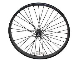 Beach Cruiser 26 x 45mm Fat Front & Rear Wheels Rims with 36 spokes Black