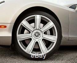 Bentley Continental Silver Wheel Hub Cap 21' 7 Spoke Rim