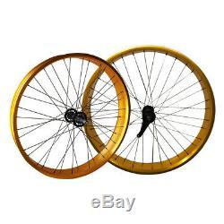 Bicycle Wheels Set Fat Bike Coastal 26 Wheel 4 Extra Wide 36 Spoke Front Rear