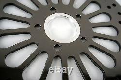Black 11.5 Brake Rotors Front & Rear 3pcs Super Spoke SS For Harley Touring