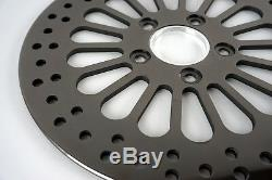 Black 11.5 Brake Rotors Front & Rear Super Spoke SS Harley Touring 1984-2013