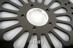 Black 11.5 Brake Rotors Front & Rear Super Spoke Stainless Steel Harley Touring