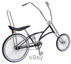 Black Chopper Lowrider Bike 144 Spokes 20 Front Wheel 26 Rear Wheel Coaster