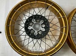 Bmw Gold R1250gs Adventure LC Spoked Tubeless Wheels Front And Rear Pair