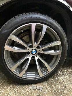 Bmw X5 & X6 Series Oem Spoke Style469 M 20 Wheel/tire/tpms & Center Cap Set