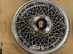 Buick 15 Inch Wire Spoke Hubcap Hub Cap Wheel Covers Set Of 4