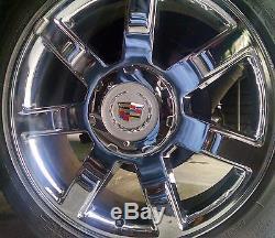 Cadillac Escalade OEM Center Caps with locks 7spoke wheels (Centercaplocks. Com)
