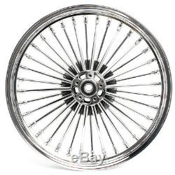Chrom Front Rear Cast Wheels Dual Disc Fat Spoke Touring Softail Sportster 21/18