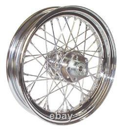 Chrome 16 x 3.5 40 Spoke Rear Front Wheel Rim Dual Harley Shovelhead Big Twin XL