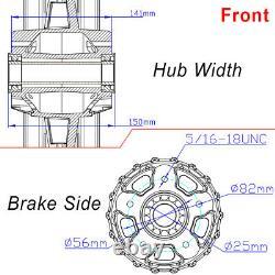 Chrome 21''x3.5/18''x3.5'' Fat Spoke Wheel Set Dual Disc For Harley Softail Dyna