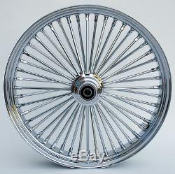 Chrome 48 King Spoke 21 x 3.5 Front, 16 x 3.5 Rear, Wheel Set for Harley