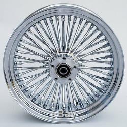 Chrome 48 Spoke 21 x 3.5 Dual Front & 16 x 3.5 Rear Wheel Set for Harley